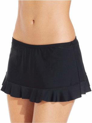 Hula Honey Ruffled Swim Skirt $28 thestylecure.com