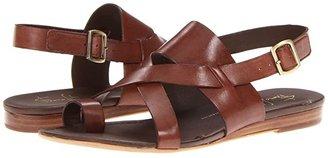 Franco Sarto Gia by SARTO (Black Leather) Women's Sandals
