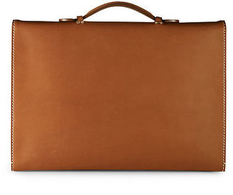 Ralph Lauren Saddle Single-Gusset Briefcase