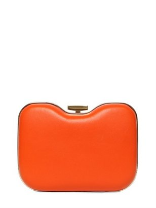 Fendi Giano Double Face Leather Rigid Clutch