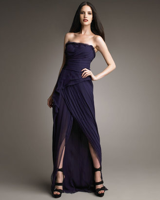 J. Mendel Strapless High-Low Gown