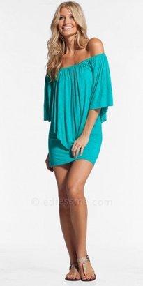 Elan International Off Shoulder V-cut Day Dresses