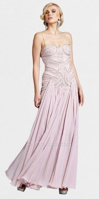 Mignon Pink Vintage Beaded Sweet Evening Dresses