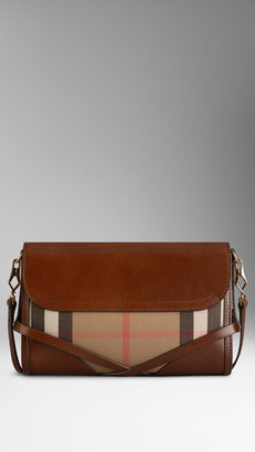 Burberry Small Bridle House Check Crossbody Bag