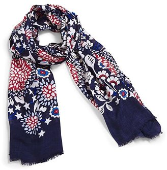 Vera Bradley Soft Fringe Scarf (Sweethearts and Flowers) Scarves