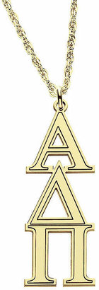 FINE JEWELRY Personalized Gold Over Silver Greek Pendant Necklace