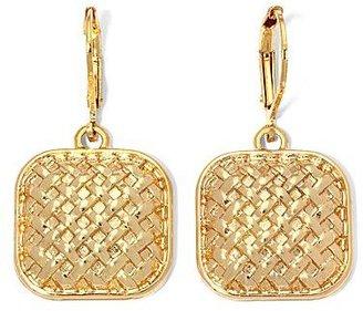 Monet Gold-Tone Woven Drop Earrings