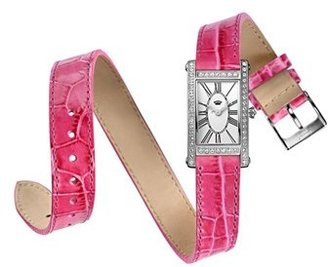 Juicy Couture 'Royal' Double Wrap Leather Strap Watch, 22mm