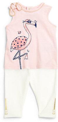 Little Marc Jacobs Infant's Flamingo Print Top