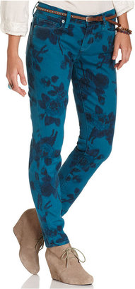 Lucky Brand Jeans Skinny Jeans, Floral-Print Colored-Denim