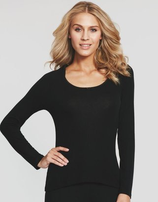 Figleaves thermal Adore Thermal Silk Blend Rib Long Sleeve Top