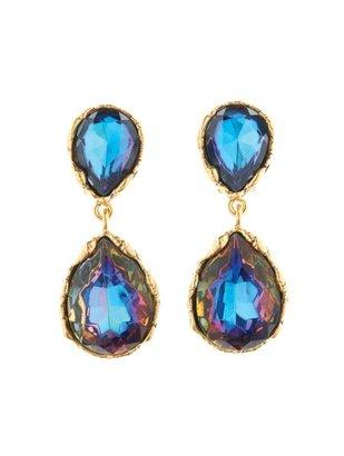 Oscar de la Renta Large Crystal Earring