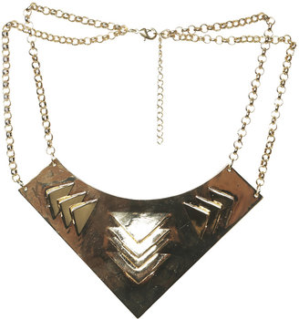Arden B Triangle Bib Plate Necklace