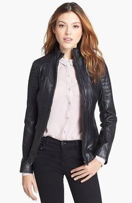 LaMarque Padded Leather Biker Jacket