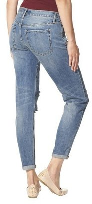 Mossimo Mid-Rise Destructed Skinny Jeans