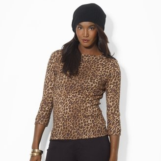 Ralph Lauren Leopard-Print Cotton Top