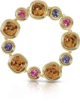 Forzieri Purple, Pink and Orange Crystals Bracelet