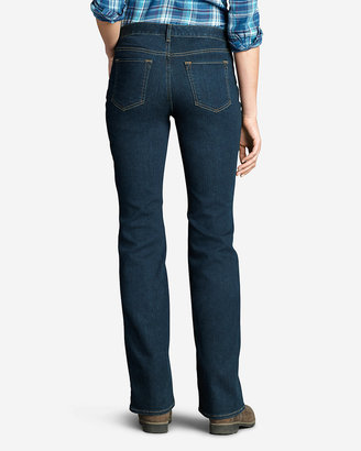 Eddie Bauer Women's StayShape Boot Cut Jeans - Curvy