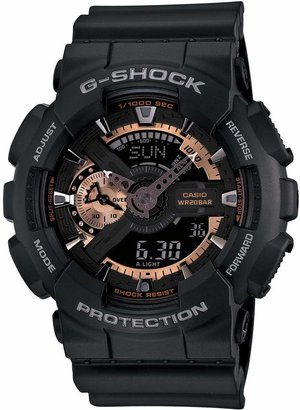 G-Shock BABY-G 'X-Large' Rose Gold Dial Watch, 55mm