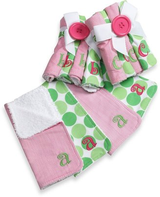 Mud Pie Mud PieTM Pink Initial Washcloths (Set of 4)