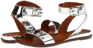 7 For All Mankind Maura (Silver Specchio Leather) - Footwear