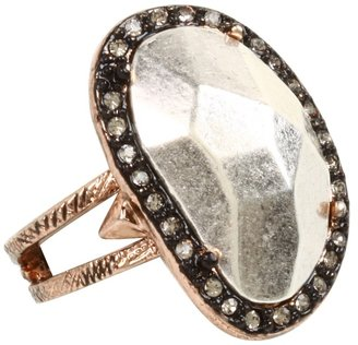 House Of Harlow Vertical Sahara Sand Ring (Rose Gold) - Jewelry