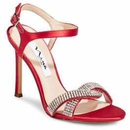 Nina Davis Satin Rhinestone Sandals