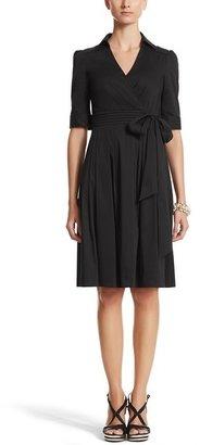 White House Black Market 3/4 Sleeve Fit & Flare Shirt Dress