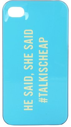 Kate Spade Talk Is Cheap Resin Case for iPhone 4 (Turquoise/Cobalt/White) - Electronics