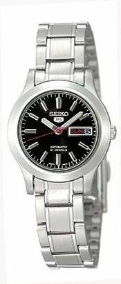 Seiko Women's SYMD95 Seiko 5 Automatic Stainless Steel Watch $99 thestylecure.com