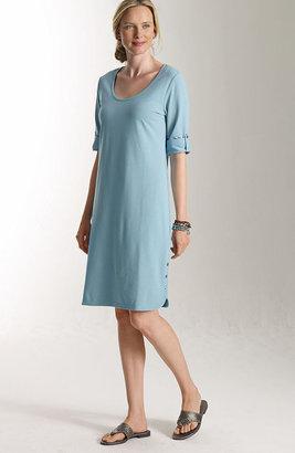J. Jill Pima-stretch scoop-neck dress