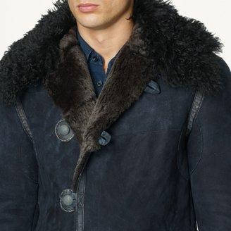 Ralph Lauren Black Label Denim Shearling Explorer Jacket