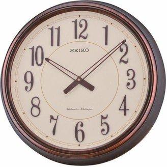 Seiko Antique Copper Chime Wall Clock.