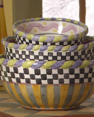 "Mackenzie Childs MacKenzie-Childs ""Piccadilly"" Mixing Bowls"