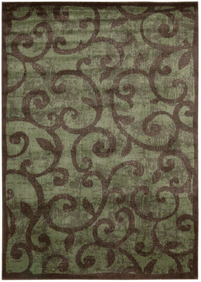 """Nourison Closeout! Area Rug, Expressions XP02 Brown 2' x 5' 9"""" Runner Rug"""