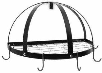 Rogar Half Dome Pot Rack With Grid Shelf