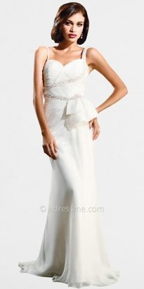 Classic White Prom Dress by Nika