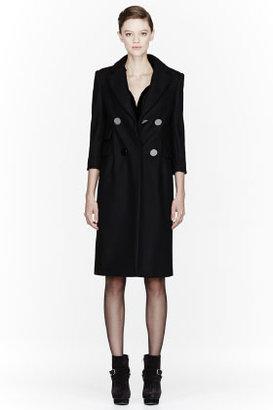 Altuzarra Black fur & wool Lara Overcoat