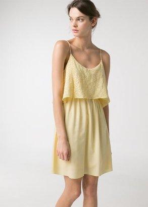 MANGO Outlet Textured Ruffled Dress