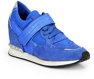 Ash Detox Mixed Media Wedge Sneakers