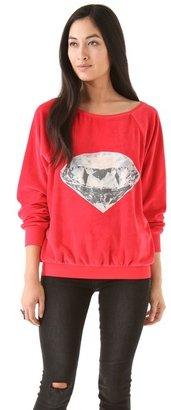 Wildfox Couture Diamond Velour Sweatshirt