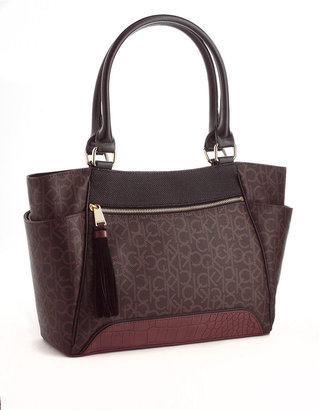 Calvin Klein Hudson Monogrammed Tote Bag