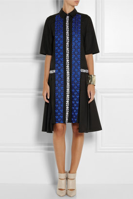 Suno Embroidered cotton dress