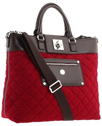 Knomo London - Ravello Tote Laptop Bag (Berry Felt) - Bags and Luggage