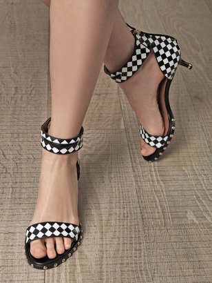 Givenchy Lookbook weave printed shoes