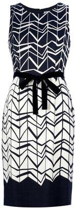 Paule Ka zigzag print dress