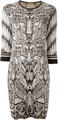 Roberto Cavalli animal print dress