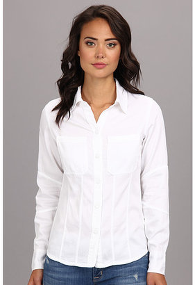 DL1961 Jenny Fitted Denim Shirt in Shell