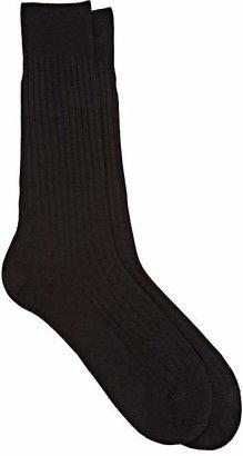 Barneys New York Men's Rib-Knit Mid-Calf Socks $30 thestylecure.com