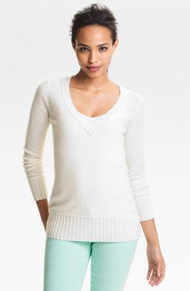 Halogen V-Neck Cashmere Sweater (Online Exclusive)